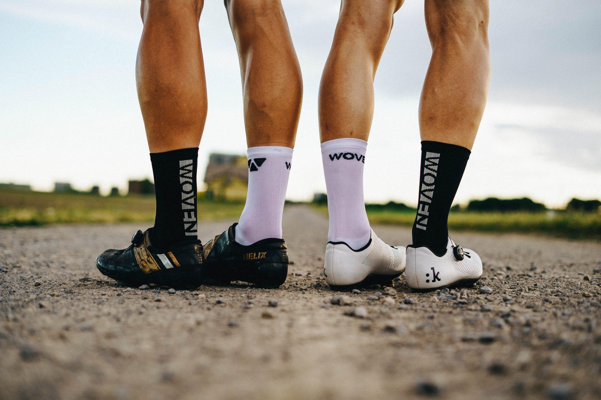 B/W Woven Socks
